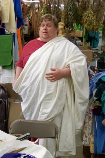 Marcus in his toga
