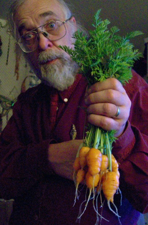 Local harvest carrots that will go into a dish for the next feast!