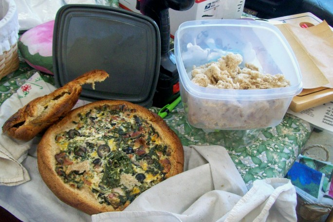 Baked spinach/cheese spread 7/20/14