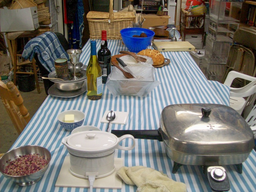 Partly set table
