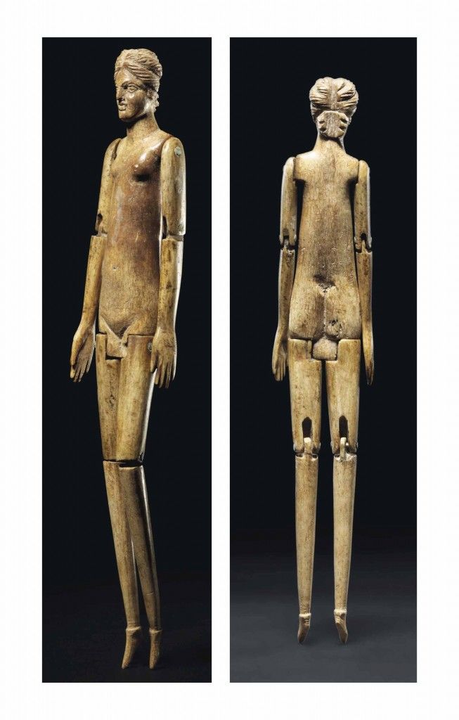 Articulated doll bone Rome late 2nd century