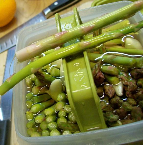 Asparagus & garlic
