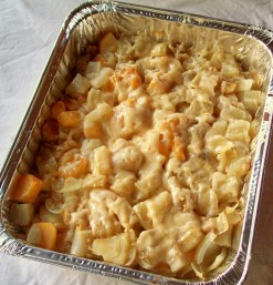 Roasted Root vegetable with cheese
