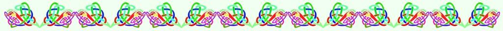 color knot div dragon on green