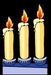 Imbolc motif Candles