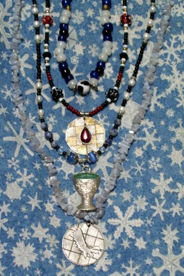 Anja's Award necklaces.